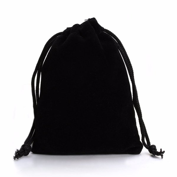 LOULEUR 10Pcs 7*9cm 9*12cm Black Velvet Bag Drawstring Pouch Bags Fashion Jewelry Packaging Christmas/Wedding Gfit Bag