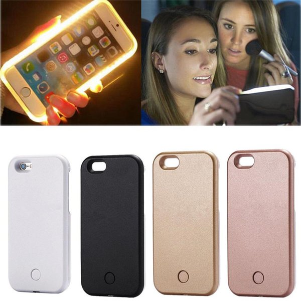 LED Phone Case For iPhone X XR 7 8 plus XS MAX Selfie Light Glow Artifact Cases For Samsung Galaxy S6 Edge