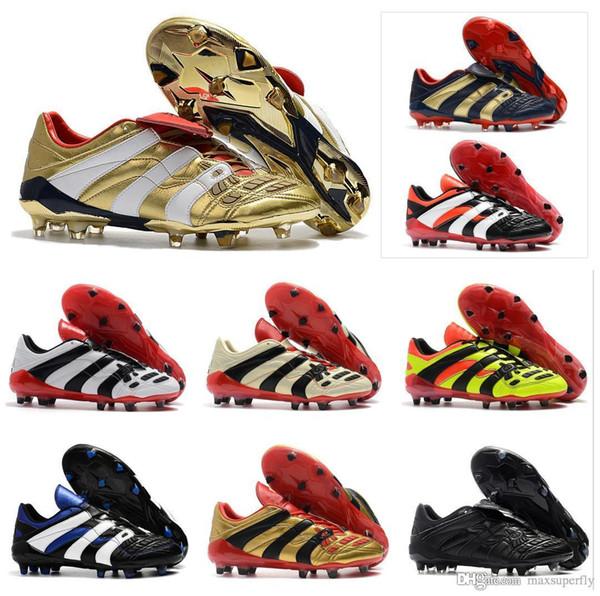 Hot 2019 Predator Accelerator Elettricità FG DB Golden Zidane ZZ Beckham diventa 1998 98 Scarpe da calcio da uomo tacchetti da calcio Taglia 39-45