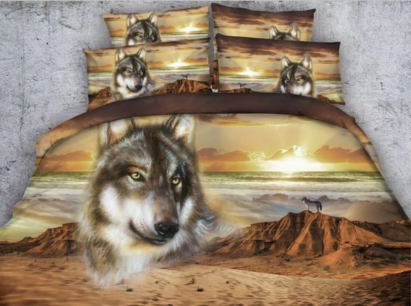 wolf print bedding
