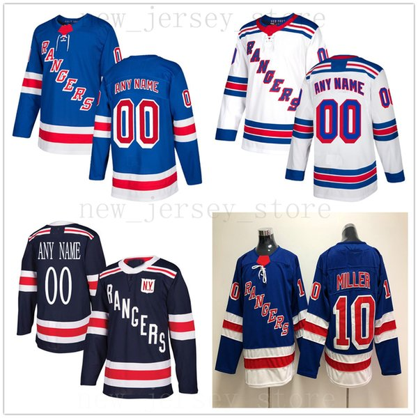 Custom New York Rangers Hockey Jersey Azul Blanco 89 Pavel Buchnevich 72 Filip Chytil 33 Fredrik Claesson 13 Kevin Hayes 21 Brett Howden