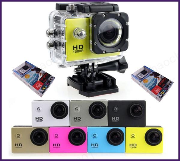 top popular 10pcs SJ4000 1080P Full HD Action Digital Sport Camera 2 Inch Screen Under Waterproof 30M DV Recording Mini Sking Bicycle Photo Video Cam 2021
