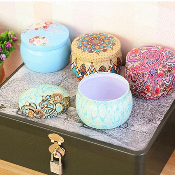 Rose Pot Tin Box Small Fresh Home Garden Personality Candy Box Drum-shaped Candy Cookie Festive Party Supplies