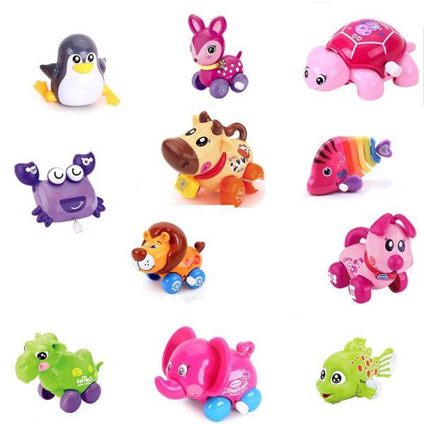 1pc Clockwork Toy Children Plastic Cute Little Animal Wind Up Toys Kids Educatinal Toys Random