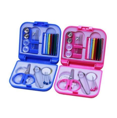 200set Portable Travel Sewing Kit Thread Needles Mini Plastic Case Scissors Tape Pins Thread Set Home Sewing Tools