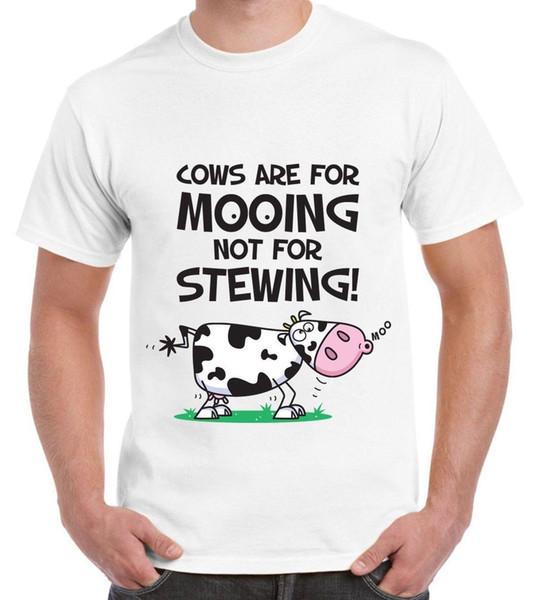As vacas do vegetariano são para o t-shirt dos homens de Mooing - presente do presente do Vegan