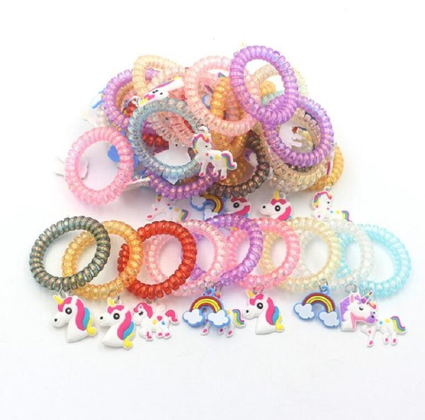La nuova moda Multicolor Unicorn Plastic Bracelet PVC Charm Wristband Home Party Jewelry Different Styles Decoration Spedizione gratuita