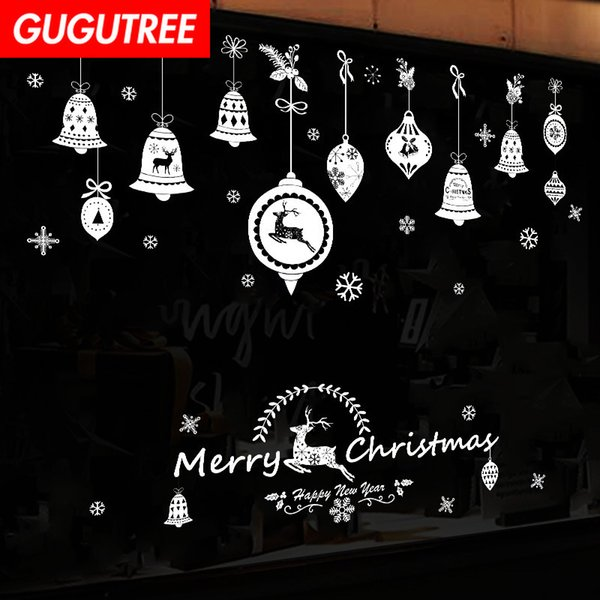 Decorate Home merry christmas new year art wall sticker decoration Decals mural painting Removable Decor Wallpaper G-1273