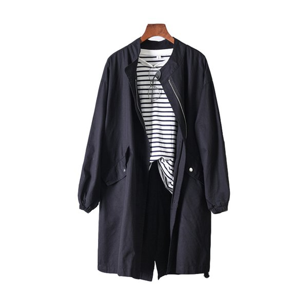 La MaxZa Solid Casual Loose Women Trench Coats and Jackets Harajuku Safari Style Designer Windbreaker Korean Fall Overcoat