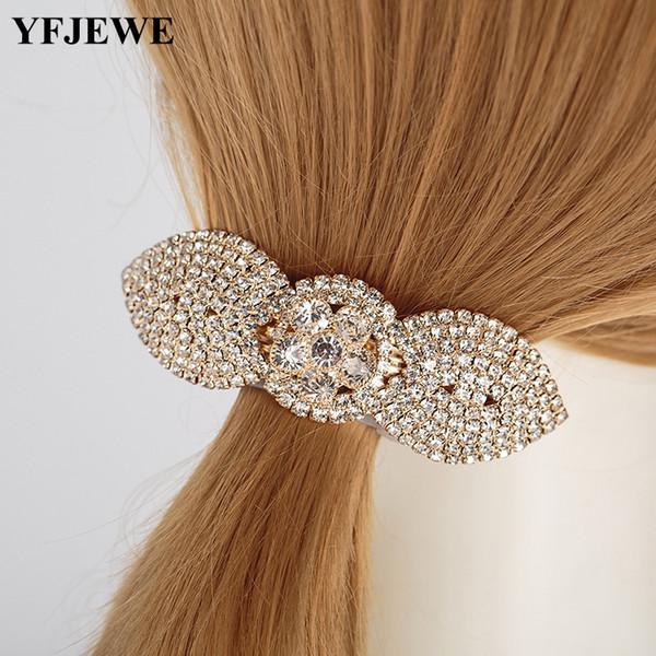 New Hot Fashion Women Girl Cute Shinning Crystal Rhinestones Flower Hair Clip Jewelry Wholesale wwomen party gift H052
