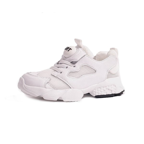 Kids Shoes 2019 Spring Fashion Girls Real Leather Shoes Boys Clunky Sneakers for Children Running Sports Trainers