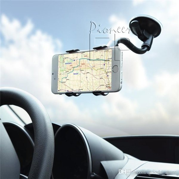 Двойной зажим мобильный телефон кронштейн мобильный телефон общий автомобильный навигатор лобовое стекло приборная панель кронштейн DHL бесплатная доставка