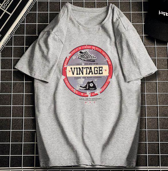 Camisetas para hombre 2019 Verano Nueva camisa suelta Moda para hombre Street Style Trend Tops Camiseta Hombre Casual Ropa impresa Tallas grandes S-6XL al por mayor