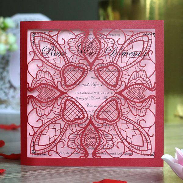 Personalizado Creativo LvKong Publicación Invitada Por favor, Letra Coreana Invitación de boda Personalidad de estilo europeo Invitación de boda Suministros de tarjetas