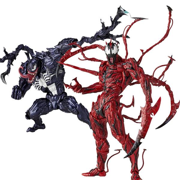 2019 hero dolls Revoltech Amazing Red Venom Carnage Captain America Spiderman Magneto Wolverine X-men Action Figures Toy Doll