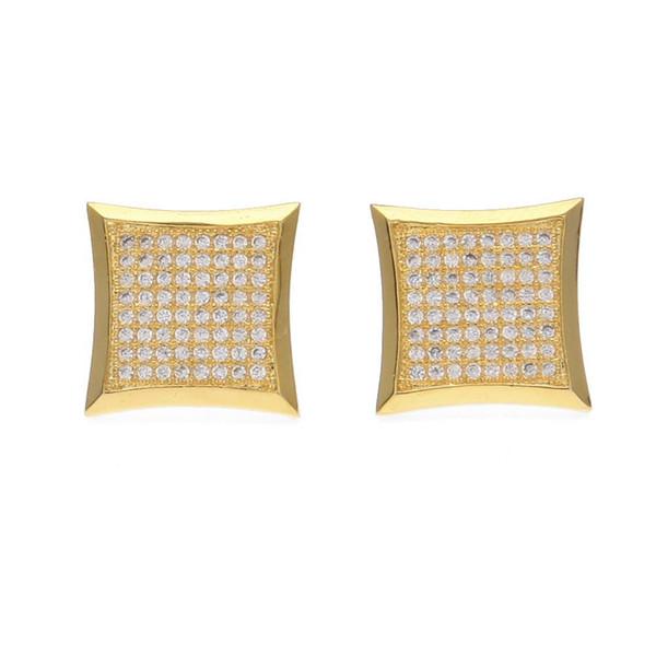 New Design Gold Nickel Free CZ Stud Earring Piercing Earring Studs 8 Row Cz Diamonds Gorgeous Earrings For Women Jewlry