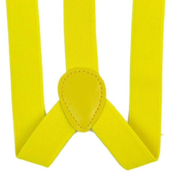 Lady mulher ajustável metal braçadeira suspensórios elásticos - amarelo