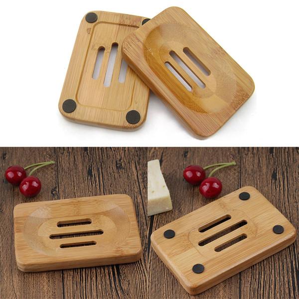 Натуральное бамбуковое мыло ручной работы для мыла Мыльница Поднос для хранения Стеллаж для тарелок Контейнер для ванной Душ для ванной Кухня для защиты от плесени