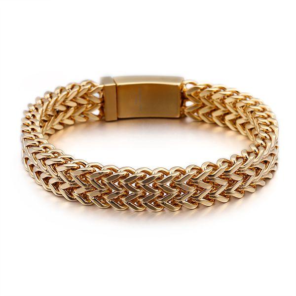 Acciaio inossidabile 316L Uomini di Hip Hop pesanti spesse catena del serpente Bracciali modo di vendita calda semplice diamante braccialetto di pietra
