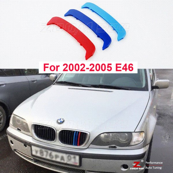 2019 3d M Front Grille Trim Strips Grill Cover Stickers For 2002 2005 Bmw E46 316i 318i 320i 325i 328i 330i 323i 4 Door Only From Xiaolei007 Price