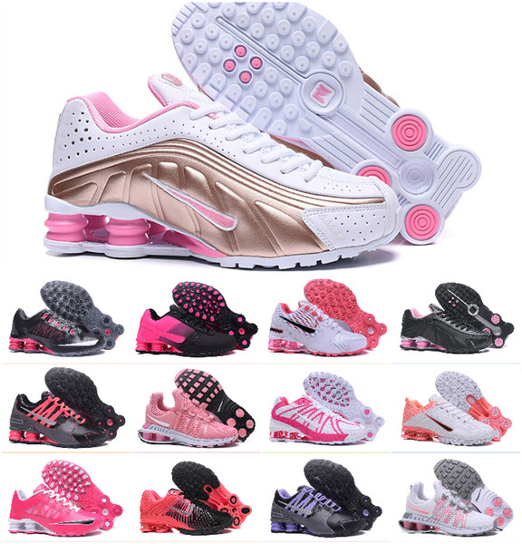 Hight Quality 2019 Original Shox Deliver Women Sports Shoes Cheap Chaussures Shox Avenue NZ OZ R4 809 802 Femme Sneakers Tn Trainers Shoes