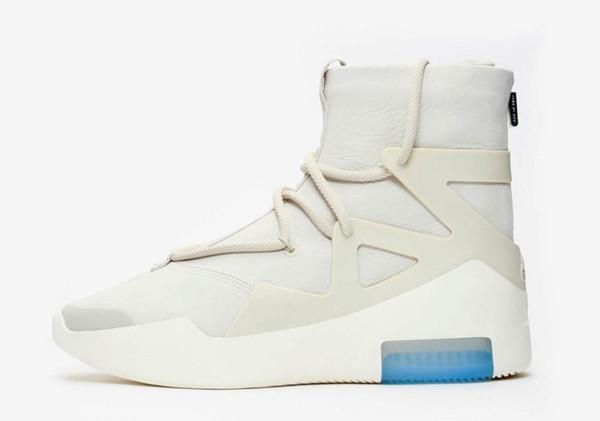 Top Versão de Fábrica Medo De Deus Cinza Alta Top sapatos 2019 de Alta Qualidade designer de Basquete Sapatos com zip nas costas