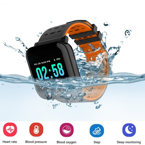 A6 Blutdruck Smart Armband großen Farbbildschirm Fitness-Tracker Schrittzähler Activity Monitor Smart Watch für Mann Frauen