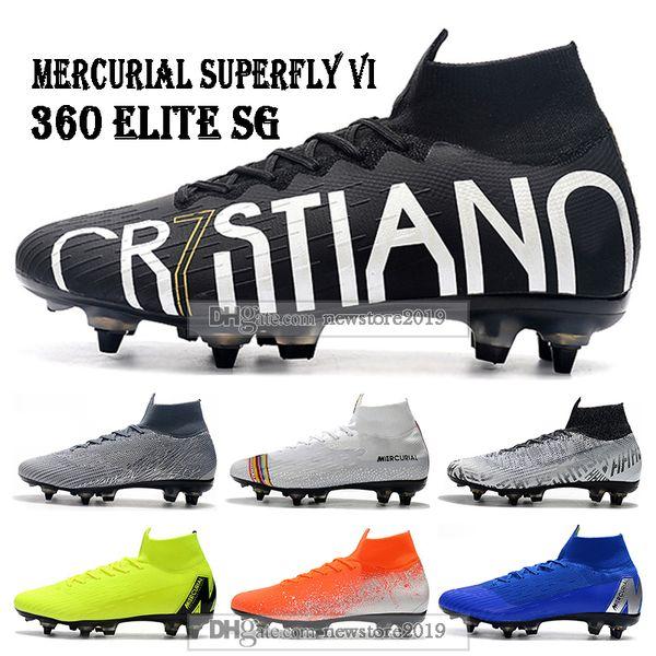Mens High Tops Football Boots Superfly 6 Elite CR7 SE SG Soccer Shoes Cristiano Ronaldo Mercurial Superfly VI 360 Neymar ACC Soccer Cleats
