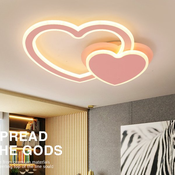 2019 2019 Creative Design Lamps And Lanterns Heart Shaped Romance Bedroom Lighting Led Ceiling Lamp Rotate Modern Acryl From Jess234 155 78
