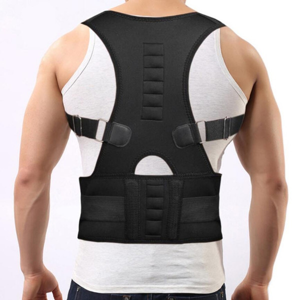 Magnetic Therapy Adult Back Corset Shoulder Lumbar Posture Corrector Bandage Spine Support Belt Back Support Posture Correction #241698