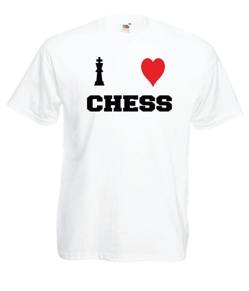 I LOVE CHESS game geek nerd gamer birthday xmas gift idea mens womens TSHIRT TOP