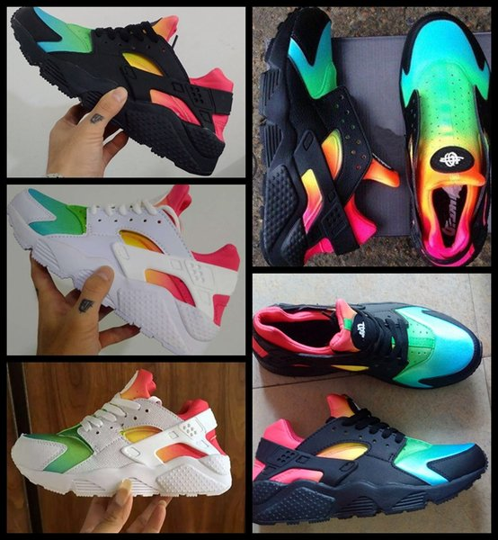 2018 New Huarache Ultra Running Shoes Huraches For Mens Women Black White Red Colorful Huaraches Designer shoes Sneakers Athletic Trainers