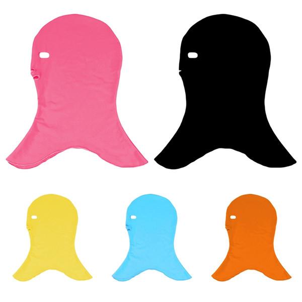 Новый Водонепроницаемый Анти-УФ Солнцезащитный Крем Плавать Facekini Мужчины Женщины Плавательные Шапки Маска Для Ушей Длинные Защитные Волосы Дайвинг Шляпы