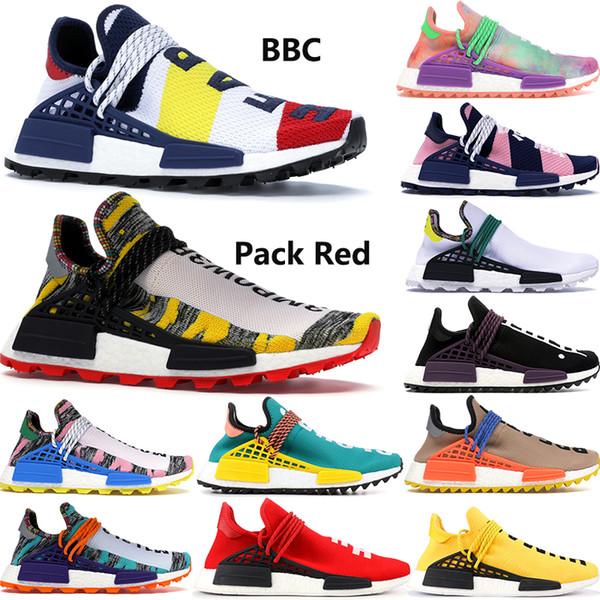 Adidas NMD Human Race BBC Multi Color Pharrell Oreo Nobel Ink Zapatillas de running para hombre de alta calidad Pharrell Williams para mujer Diseñador de zapatos Eur36-46