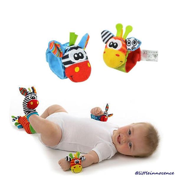 best selling 1 Pair Infant Baby Soft Rattles Wrist Handbell Foot Finders Developmental
