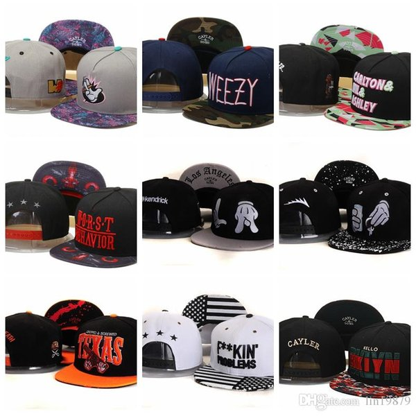 2019 new arrival Cayler & Sons Smoke WEEZY FUKIN PROBLEMS BKLYN Baseball Caps Fashion Casual Hip hop men womens Bone Casquette Snapback Hats