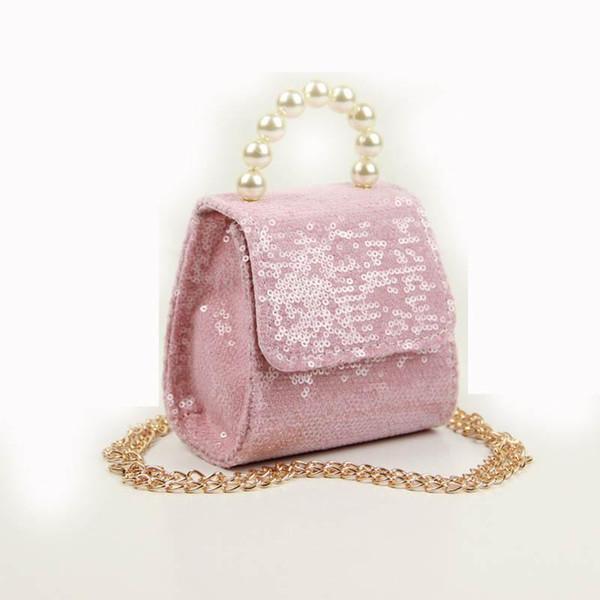 Nuevos bolsos de diseñador de niños de perlas de lentejuelas Mini bolsos de niñas bolsos de princesa de moda bolsos de hombro de niñas bolsos de niños bolsos de mensajero