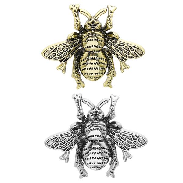 2019 tendenza personalità spilla pin ape in argento oro due colori uomini e donne in lega spilla zaino accessori abito
