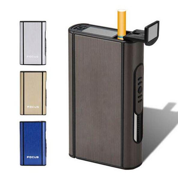 De alta calidad de aleación de aluminio de expulsión titular portátil automático caja de cigarrillos a prueba de viento caja metálica cajas de humo GB280