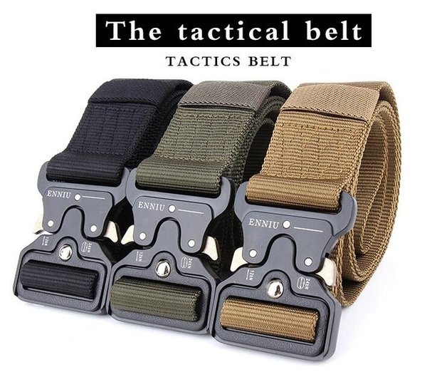 Molle Tactical Buckle Sling Belt Men Male Hiking Climbing Outdoor Duty Support Nylon Belt 4.5CM