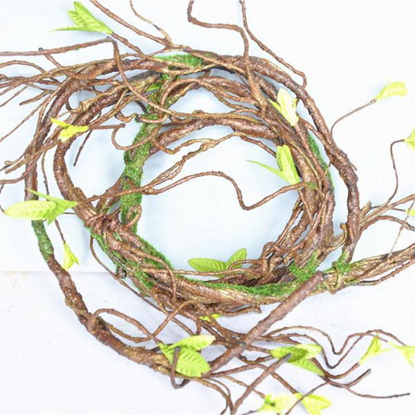 90cm Ramas árbol falso Planta Rattan tacto verdadero bricolaje artificial de la vid para la decoración del jardín Home Hotel de la guirnalda floral Scrapbooking