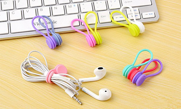 10Pcs/Pack Earphone Cord Winder Cable Holder Organizer Clips Multi Function Durable Magnet Headphones Winder Cables Drop Shipping