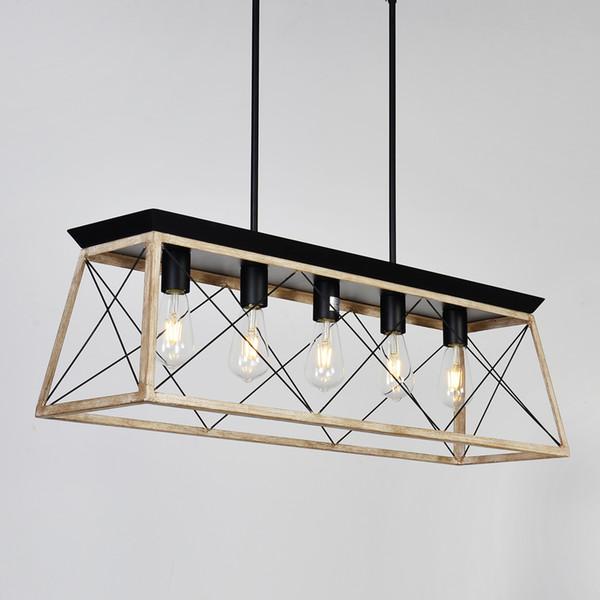 Modern Metal Rectangular Chandeliers Hanging Lighting for Living room Sala da pranzo Hotel Restaurant Suspension Lustre