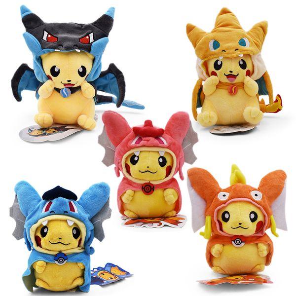 Best-selling Detective Pikachu Plush dolls 25cm Pikachu plush toys cartoon Stuffed animals toys soft best Gifts