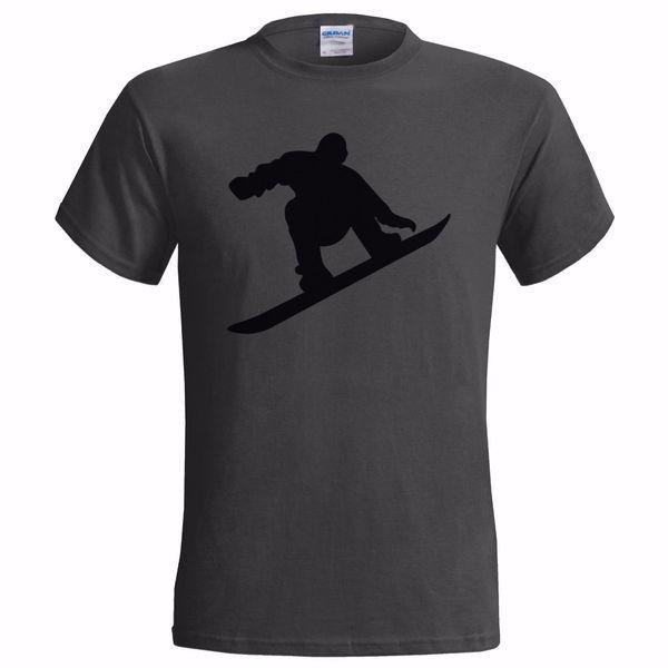 SNOWBOARDER SILHOUETTE HOMMES T-SHIRTS NEIGE HIVER SKI SNOWBOARD SNOWBOARD BOARD personnalisé imprimé tshirt, tee-shirt drôle hip hop, tee shirts