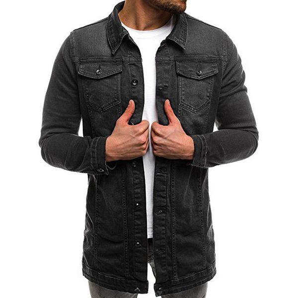 HEFLASHOR 2018 года Мужские куртки пальто осень Brand New Джинсовая куртка Твердая моды Hip Pop Повседневный высокого качества Мужской Denim ветровки