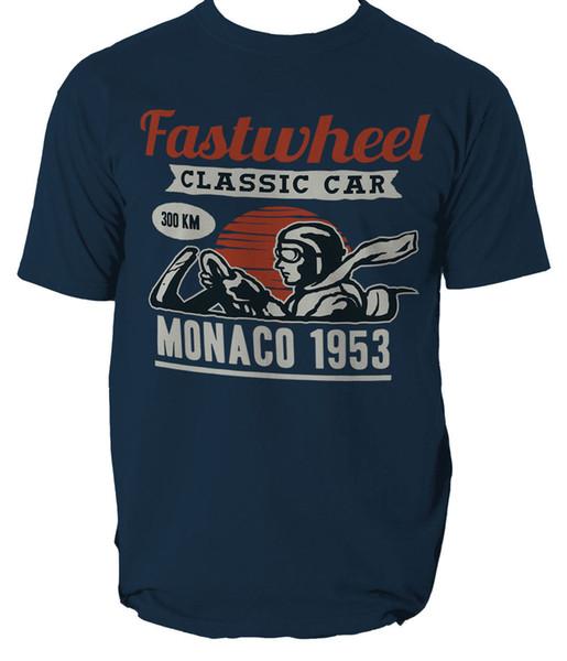 VINTAGE RACER T shirt VINTAGE CAR SHOW SPORT MONACO mens t-shirt tee S-3XL Funny free shipping Unisex