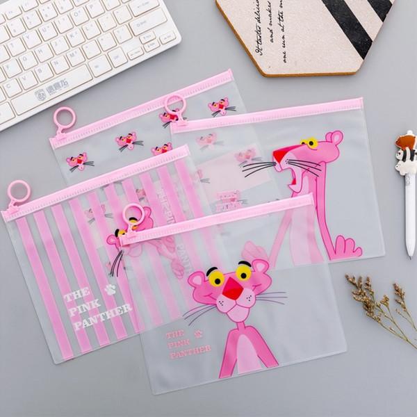 Cute Pink Leopard Unicorn Transparent Travel Cosmetic Bag Make Up Case Makeup File Bag Women Organizer Toiletry Storage Kit Box #264054