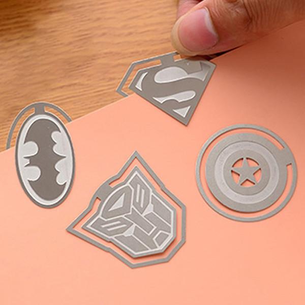Liga de super-heróis Dos Desenhos Animados de Metal Marcador Criativo Batman Oco Marcador de Ouro Material Escolar Estudante Papelaria Partido Presente Da Criança DBC DH1433