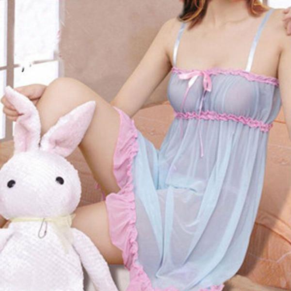 Frauen-Spitze-Hosenträger-Kleid-reizvolle Wäsche Babydoll Nachtwäsche Erotic Temptation Unterwäsche G-String Nachtwäsche